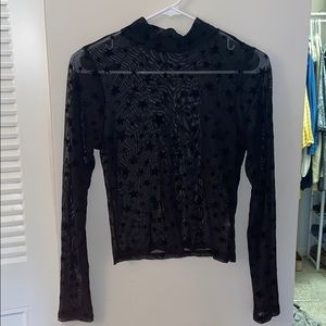 Tops - Mesh with star print top